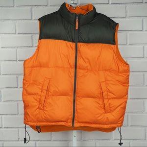 Old Navy XL down filled reversible vest orange
